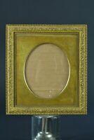 Beau cadre ancien miniature bronze doré Ovale miniature perles  Louis XVI 19e