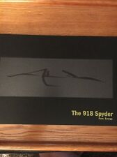2013 Porsche 918 Spyder Hardcover Brochure Sales Catalog