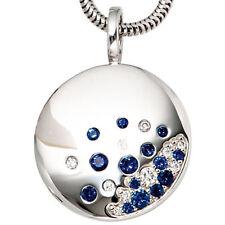 Unbehandelte Echtschmuck-Halsketten & -Anhänger mit Saphir-Hauptstein für Damen
