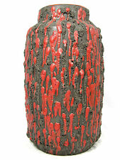 "Rare 60´s Hans Welling design Ceramano Keramik pottery vase "" Rubin "" 184  22 cm"