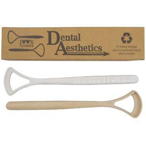 Cornstarch Tongue Scraper x 2 ~ Eco-friendly Cleaner Plastic-Free Biodegradable
