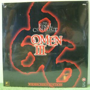 Final Conflict: Omen III (1981) PAL Laser Disc, Horror Film, Sam Neill [EE 1136]