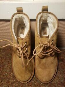Mountain Creek Pippen Men Brown Warm Cozy Faux Fur Ankle Boots Size 11M