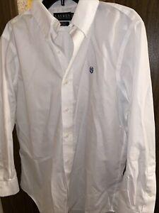 Ralph Lauren Mens Size 15.5 M White Dress Shirt