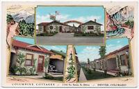 Postcard Multiple Views of Columbine Cottages in Denver, Colorado~107325
