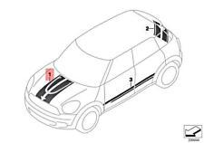 Genuine Mini Cooper R60 All4 Set Trim Strip Engine Compartment Lid 51149813677