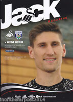 2014/15 SWANSEA CITY V WEST BROMWICH ALBION 30-08-2014  Premier League (Mint)