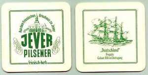 sehr schöner alter Bierdeckel Jever Pilsener Fregatte Deutschland Segelschiff  E
