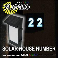 1 NUMERO DE MAISON LED NUMELIO ALLUMAGE AUTOMATIQUE-TOUT NUMERO- PANNEAU SOLAIRE