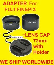 CAMERA LENS ADAPTER S3300HD+CAP 72mm S3400HD S3200HD S4050HD S3200 FUJI FINEPIX