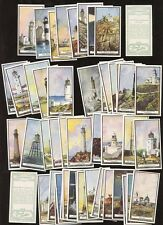 Wills New Zealand Lighthouses SET 50 FINE/VERY FINE cig cards
