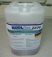 KOOLRite 2270 SOLUBLE OIL COOLANT, CUTTING FLUID FOR CNC MACHINERY