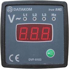 DATAKOM DVF-0103 72x72 Voltímetro Digital e Painel de Freqüência (3 Fase)