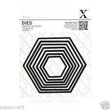X cut 7 pc nesting dies hexagons Use Xcut Sizzix big shot eBosser etc machines