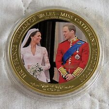 WILLIAM & CATHERINE 2011 COOK ISLAND PHOTO 24ct GOLD PLATED PROOFLIKE $1 c