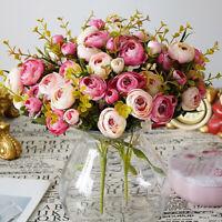 Matrimonio Rosa Camelie Finto Fiore Bouquet Artificiale Festa Casa Decorazioni