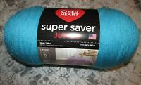 NWT Red Heart Super Saver JUMBO Aqua Blue Medium 4 Acrylic Yarn 396 g USA