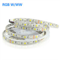 5M Waterproof RGBW RGBWW SMD 5050 LED Strip light 12V RGB+White /Warm White