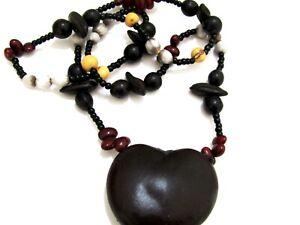 Amazon Rain Forest Necklace Achira - Tagua Seeds