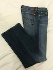 (*-*) 7 SEVEN FOR ALL MANKIND * Womens FLARE Blue Jeans / Denim Size 32 / 14