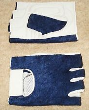 SALE Navy & Grey Cycle Cycling Sports Gloves Half Finger Small / Kids LAST PAIR!