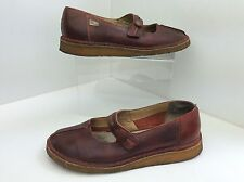 CLARKS ORIGINALS ~ RUST RED LEATHER MARY JANE SHOES, FLAT - 6 12 D