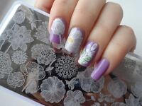 Nail Art Stamping Plates Line Flower Theme  Stamps Templates