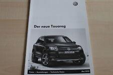 102717) VW Touareg - Preise & Extras - Österreich Prospekt 05/2010