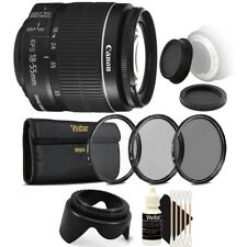 Canon EF-S 18-55mm f/3.5-5.6 IS II Lens + UV CPL Filter Kit for Canon T6i T6 T6S