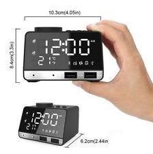K11 Bluetooth Speaker Alarm Clock Radio Dual USB Charging Phone - NEW