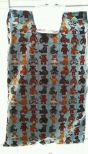 Catheter night bag cover . Teddy pattern. Cotton. Easy to wash.