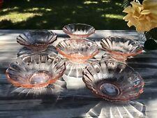 Rosalin Vintage rosa 6x kleine Schale Schälchen Pressglas Alt Glas Art Déco?