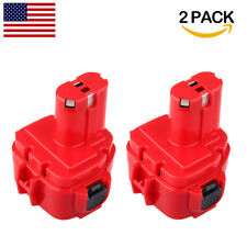2 Pack 12V PA12 2000mAh Rechargeable Battery for Makita 1220 1222 1233S 192598-2