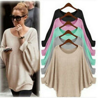 Women Long Sleeve Pullover Shirt Ladies Loose Casual Blouse Jumper Knitted Tops