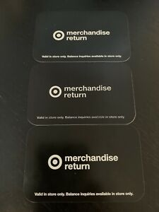 $274.61 Target Merchandise Credit Gift Card Lot - In Store Use Only