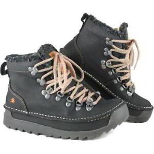 Art Skyline 615 Womens Black Chunky Vintage Ankle Boots Size 4-8