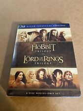 Lord Of The Rings And Hobbit Trilogy (Blu-ray Disc, 2016, 6-Disc Set) New Sealed