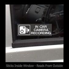 En coche cámara de grabación-ventana calcomanía / señal-Seguridad-Seguridad-Robo - Tv