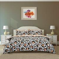 Large leopard Print Duvet Cover Set Quilt Bedding Pillowcase Single Double King