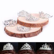10pcs/Set Classic Crystal Plastic Silver Crown Headband For Barbie Doll FDUS