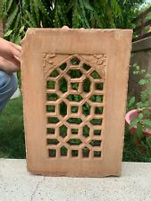 Antique Old Hand Carved Mughal Two Color Stone Jharokha Jali Cut Wall Window