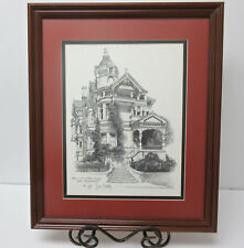 The Haas-Lilienthal House San Francisco Don Darcy Signed And Dated Framed Print