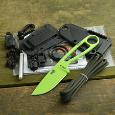 ESEE Izula Venom Green 1095 Fixed Blade Survival Knife With Kit Izula-VG-Kit