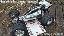 Traxxas Custom Painted RC Body For BANDIT & Rustler 1/10 Bare Metal/Chrome Like