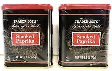 Trader Joe's Smoked Paprika Spanish Spice Lot 2-PACK (2 X 2.6 oz tins)