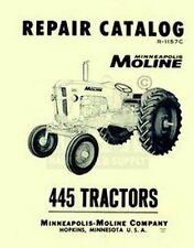 Minneapolis Moline 445 Repair Part Manual Catalog