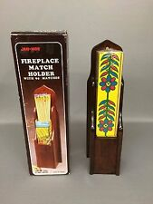 Vintage Jan-Mor Fireplace Match Holder with 90 Matches 1983