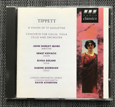 Tippett : A Vision of St Augustine : Concerto for Violin / Viola (CD)