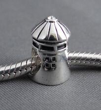 Sterling Silver .925 Lighthouse Type 2 European Charm for Charm Bracelet