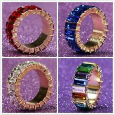 Women Jewelry Gifts Fashion Full Crystal Band Rings Wedding Engagement Ring ONE